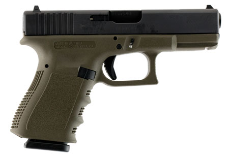 Glock 15 + 1 Round Double Action Only 9MM w/Fixed Sights & Olive Drab Finish
