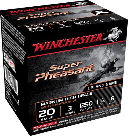 Winchester X203PH6 Super Pheasant 20 ga 3″ 1-1/4 oz 6 Shot 25Box/10Case