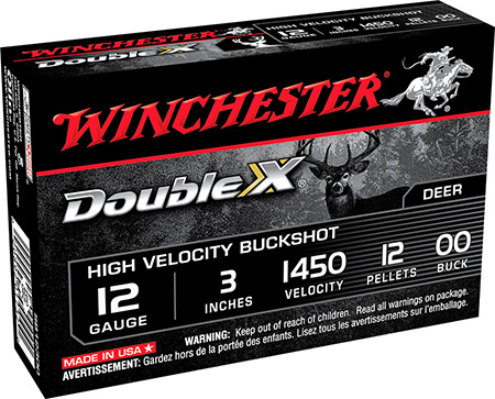 Winchester SB12300 Supreme Double X 12 ga 3″ 12 Pellets 00 Buck Shot 5Bx/50Cs
