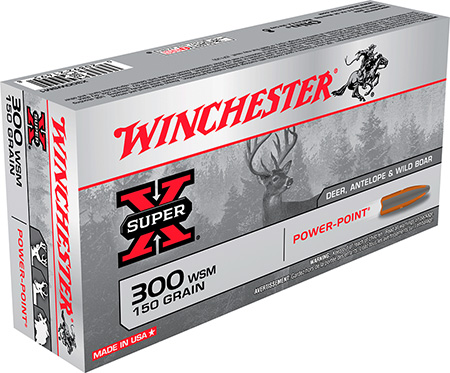 Winchester X300WSM1 Super-X 300 Win Short Mag Power-Point 150 GR 20Box/10Case