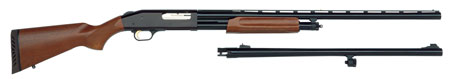 Mossberg 45310 535 Combo Pump 12ga 5+1 24″/28″ FR Wood Stk Blued