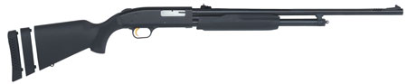 Mossberg 58253 500 Pump 20 ga 24″ 3″ Black Synthetic Blue Finish