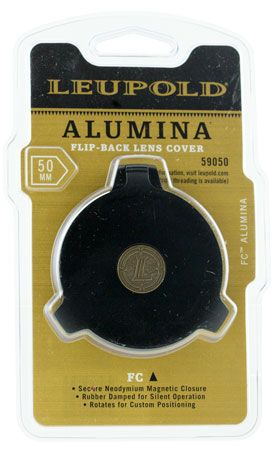 Leupold 59050 Alumina Flip-Back Lens Cover 50mm Aluminum Black
