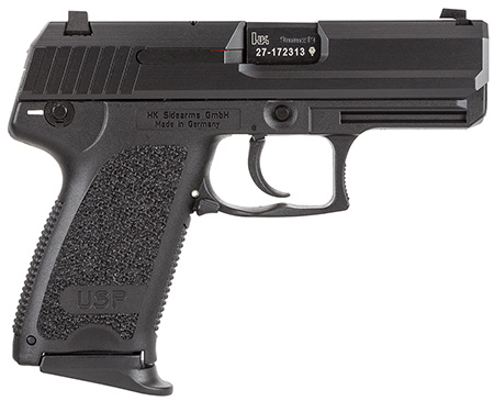 H&K M709031A5 USP9 Compact DA/SA 9mm 13+1 3.58″ Modular Synthetic Grip Blued