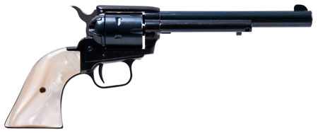 Heritage R22MB6PRL Rough Rider 22LR/22 Mag 6.5″ 6rd White Pearl Grip Blued