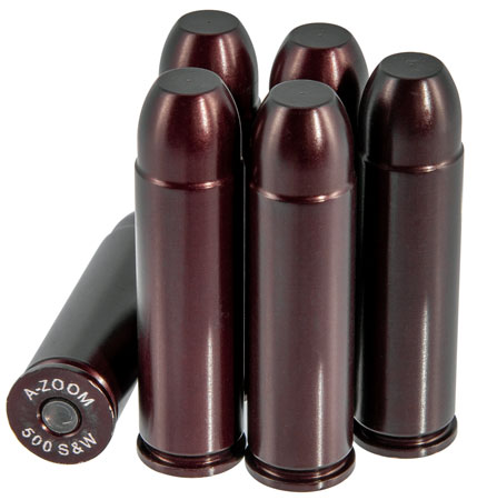 A-Zoom 16144 Snap Caps Handgun Rounds 500 S&W Aluminum 6