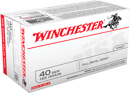 Winchester Ammo USA40SWVP Best Value USA 40 S&W FMJ 165 GR 100Box/5Case