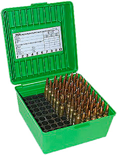 MTM R100MAG10 Deluxe R-100 100rd Mag Rifle Ammo Box Poly Grn