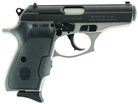 Bersa T380DT8CT Thunder 380 Combat Single/Double 380 Automatic Colt Pistol (ACP) 3.5″ 8+1 Black Polymer Grip