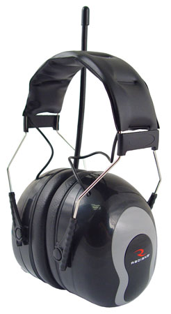 Radians AMFM31 Sound FX AM/FM Earmuff/Radio 22 dB Black