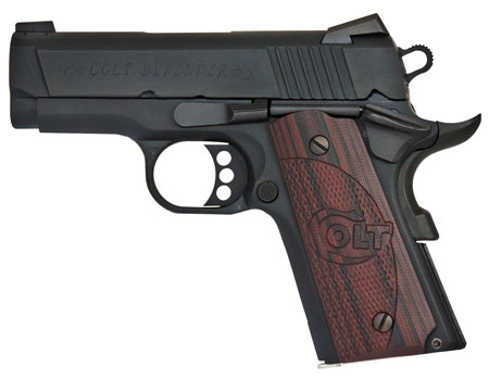 Colt Mfg O7800XE 1911 Defender Single 45 ACP 3.0″ 7+1 Black Cherry G10 Grip Black Cerakote