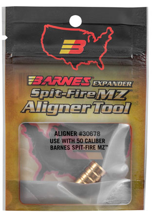 Barnes Bullets 30678 Muzzleloader Alignment Tool .50 Cal Spit-Fire Brass 0.75