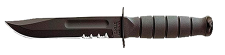 Ka-Bar 1257 Short Black Fight Utility Serrated