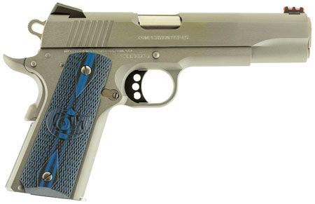 Colt Mfg O1082CCS 1911 Single 9mm 5″ 9+1 Blue G10 w/Logo Grip Stainless Steel