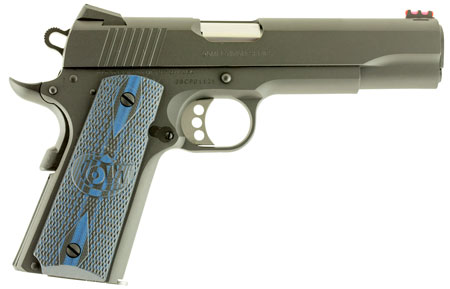 Colt Mfg O1983CCS 1911 Single 38 Super 5″ 9+1 Blue G10 w/Logo Grip Blued