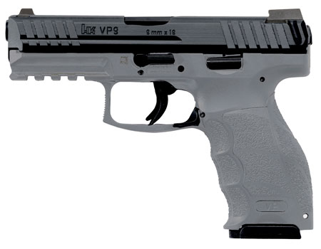 HK 700009GYLELA VP9 Single/Double 9mm 4.09″ 10+1 Gray Interchangeable Backstrap Grip Black