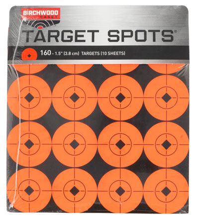 Birchwood Casey 33904 Target Spots 1.5″ Red Bullseye Adhesive 16 Per Page/10Pack