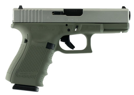 Glock  G19 Double 9mm Luger 4.01″ 15+1 Forest Green Poylmer Grip Stainless