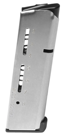 Wilson 500CHD 1911 Replacement Magazine 45ACP+P 8rd SS Lo Profile Steel Base