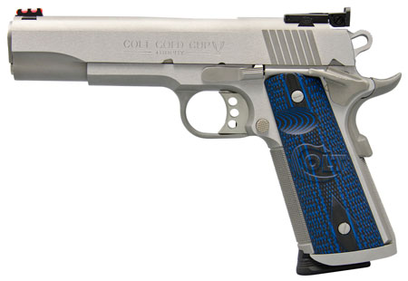 Colt Mfg O5070XE 1911 Single 45 Automatic Colt Pistol (ACP) 5″ 8+1 Blue G10 Grip Stainless Steel
