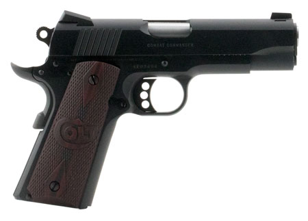 Colt Mfg O4940XE 1911 Single 45 Automatic Colt Pistol 4.25″ 8+1 Black Cherry G10 Grip Blued Carbon Steel
