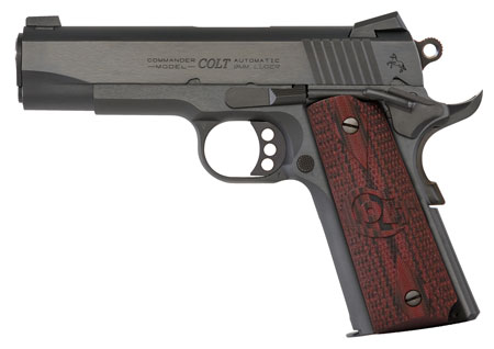 Colt Mfg O4942XE 1911 Single 9mm 4.25″ 9+1 Black Cherry G10 Grip Blued Carbon Steel