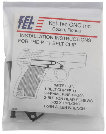 Kel-Tec P380 P-11 Belt Clip Steel Blued