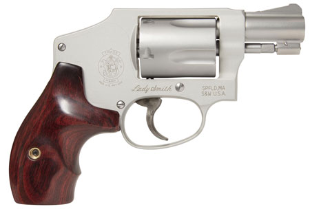 S&W 163808 M642 Airweight Internal Hammer 38 Spl 1.87″ 5rd LadySmith SS Wood Grp