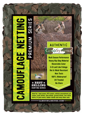 Camo Unlimited LW03B Premium Ultra-Lite Camouflage Netting 7'''' 10