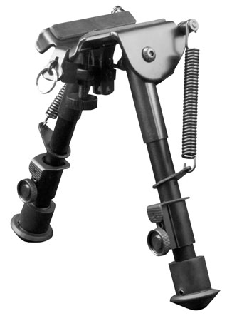 Aim Sports BPHS01 H-Style Bipod Black Aluminum and Carbon Steel 6.5-9″