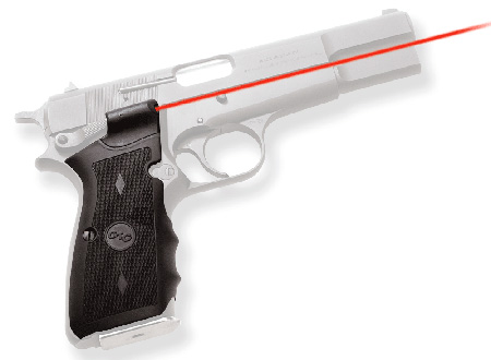 Crimson Trace LG309 Lasergrips Browning HP Red 633nm .50″@50ft Blk