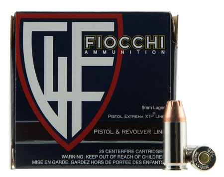Fiocchi 9XTP25 9mm 115GR XTHP 25Box/20Case