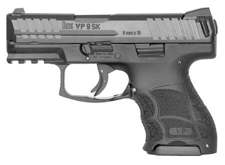 HK 700009KA5 VP9 SK Double 9mm Luger 3.39″ 10+1 2 Mags Black Interchangeable Backstrap Grip Black