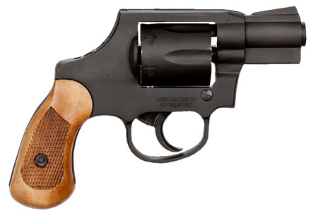 Rock Island 51280 Revolver M206 Spurless Single/Double 38 Special 2″ 6 Wood Black Parkerized