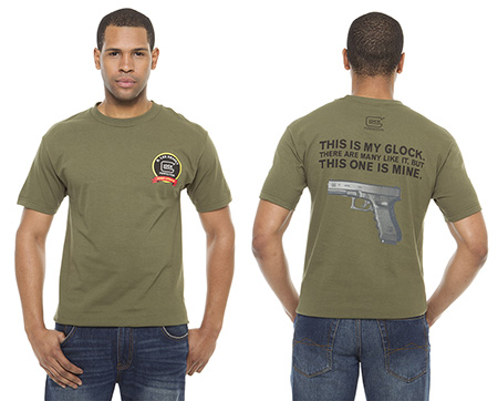 Glock GA10001 T-Shirt My Glock Short Sleeve Cotton Small Olive Drab
