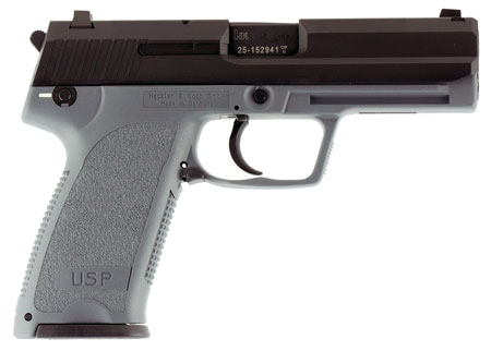 HK 704501GYA5 USP45 *CA Compliant* Single/Double 45 Automatic Colt Pistol (ACP) 4.41″ 10+1 Gray Polymer Grip Black