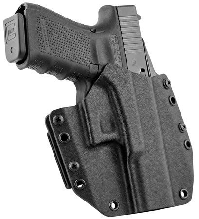 Mission First Tactical HGL17OWBBL MFT OWB  Glock 17/22 Kydex Black