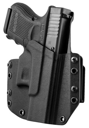 Mission First Tactical HGL26OWBBL MFT OWB  Glock 26/27 Kydex Black