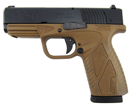 Bersa BP9DECC BPCC Concealed Carry DAO 9mm 3.3″ 8+1 Flat Dark Earth Poly Grip/Frame Black