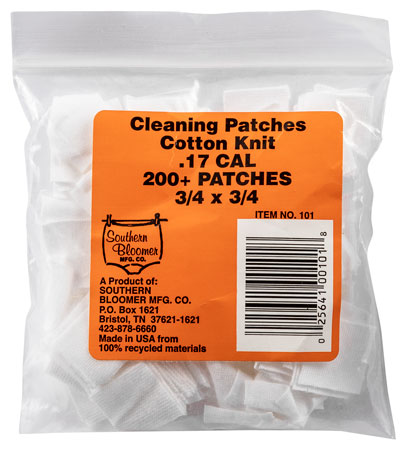 Southern Bloomer 101 Cleaning Patches .17 Cal-.20 Cal