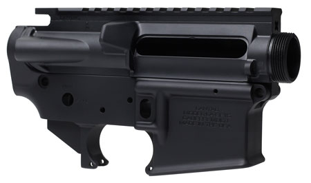 Lantac LA00302 SF15 Upper/Lower Set AR Platform Multi-Caliber Black Hardcoat Anodized