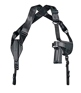 Uncle Mikes 8701 Cross-Harness Shoulder Holster Sz 1 Black Nylon