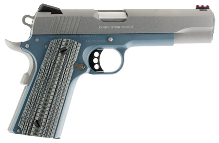 Colt Mfg O1070CCSBT 1911 Competition 70 Series Single 45 Automatic Colt Pistol (ACP) 5″ 8+1 Blue Frame Gray G10 Grip Stainless Steel