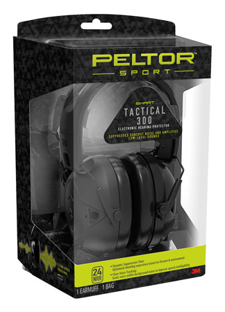 3M Peltor TAC300OTH Sport Tactical 300 Electronic 24 dB Black