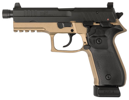 Arex REXZERO1T-03 Rex Zero 1 Tactical Single/Double 9mm Luger 4.9