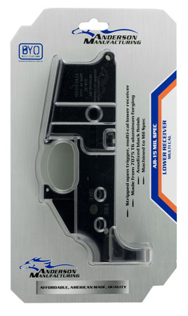 Anderson D2K067A000OP AR-15 Stripped Lower Receiver Multi-Caliber Black Hardcoat Anodized