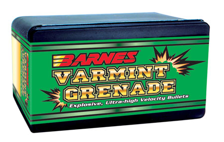 Barnes Bullets 30094 Varmint Grenade 20 Caliber .204 26 GR Flat Base Hollow Point 250 Box