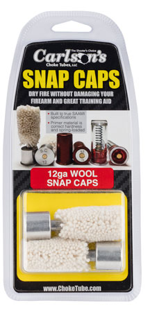 Carlsons 00105 Snap Cap Wool 12 Gauge Wool w/Metal Base 2 Pack