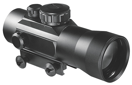 Barska AC11090 Red Dot 2x 30mm Obj 68ft@100yd Unltd Eye Rlf 5 MOA 30mm Tube Blk