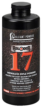 Alliant 150662 17 Reloder Smokeless Short Magnum Rifle Powder 1lb 1 Canister